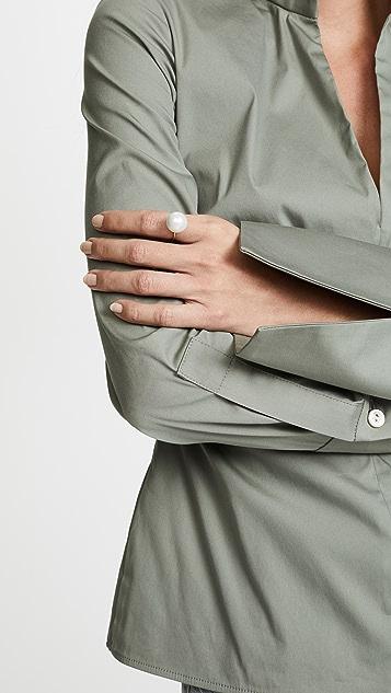 Aurelie Bidermann Cheyne Walk Ring with Glass Pearl