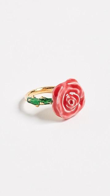 Aurelie Bidermann Ring with Pink & Green Enamel