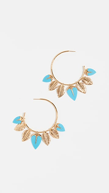 Aurelie Bidermann Thalitha Hoop Earrings - Turquoise