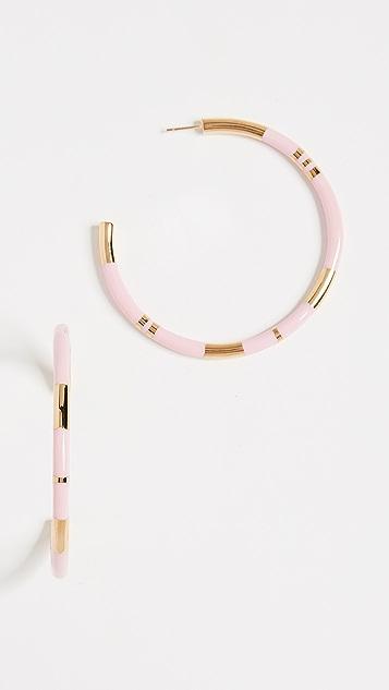 Aurelie Bidermann Positano Large Hoop Earrings