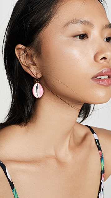 Aurelie Bidermann Porcelain Laquered Shell Earring