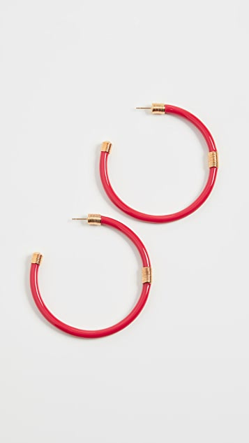 Aurelie Bidermann Katt Hoop Earrings