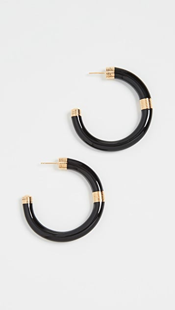 Aurelie Bidermann Katt Hoops Earrings