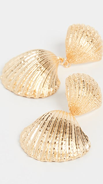 Aurelie Bidermann Shell earrings