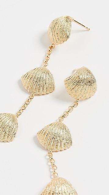 Aurelie Bidermann Long Shell Earrings