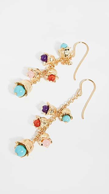 Aurelie Bidermann Lilly Earrings Dipped