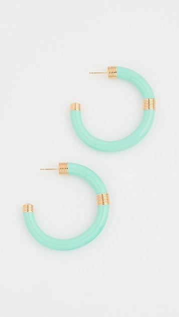 Aurelie Bidermann Katt Hoop Earrings