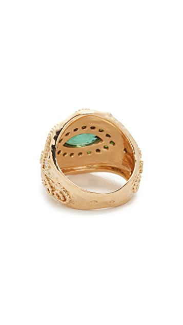 Aurelie Bidermann Fine Jewelry 18k Gold Cashmere Ring
