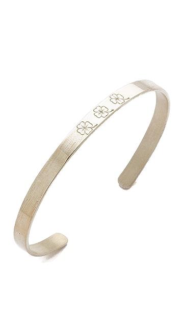 Aurelie Bidermann Fine Jewelry Bangle Engraved Bracelet