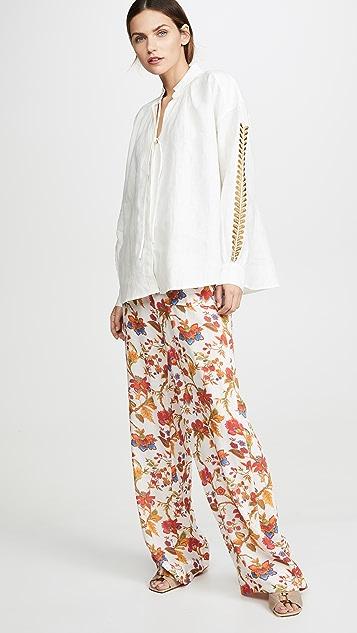 Alix of Bohemia Mia Oatmeal 亚麻女式衬衫