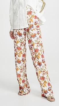 Silk Floral Charlie Pants