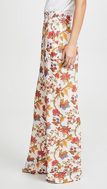 Alix of Bohemia Silk Floral Charlie Pants