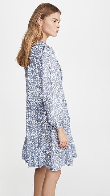 Alix of Bohemia Фиолетово-голубое платье Lorelei с принтом с цветными блоками