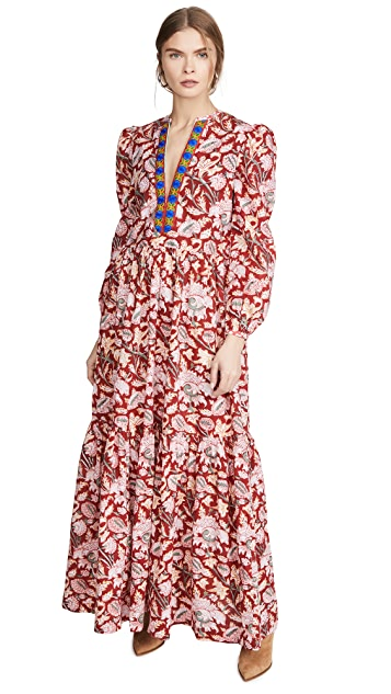 Alix of Bohemia Paradise Bird Block Print Dress