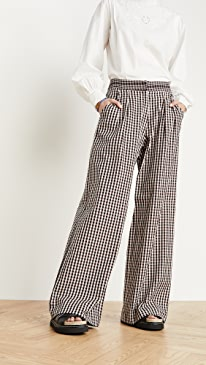Diana Houndstooth Trousers