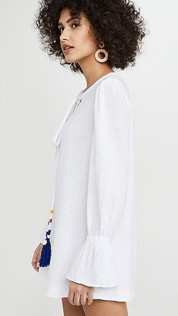 Alix of Bohemia LouLou 流苏纹理棉质连衣裙
