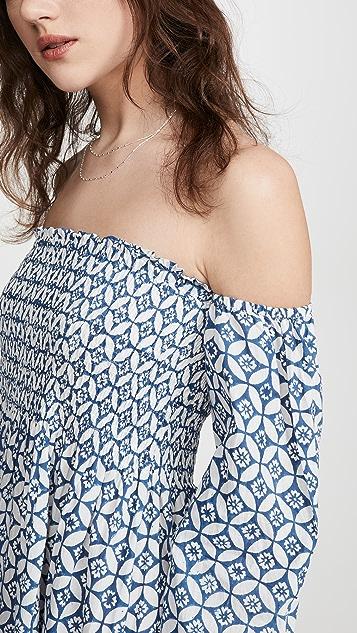 Alix of Bohemia Maryanne Blue Batik Dress