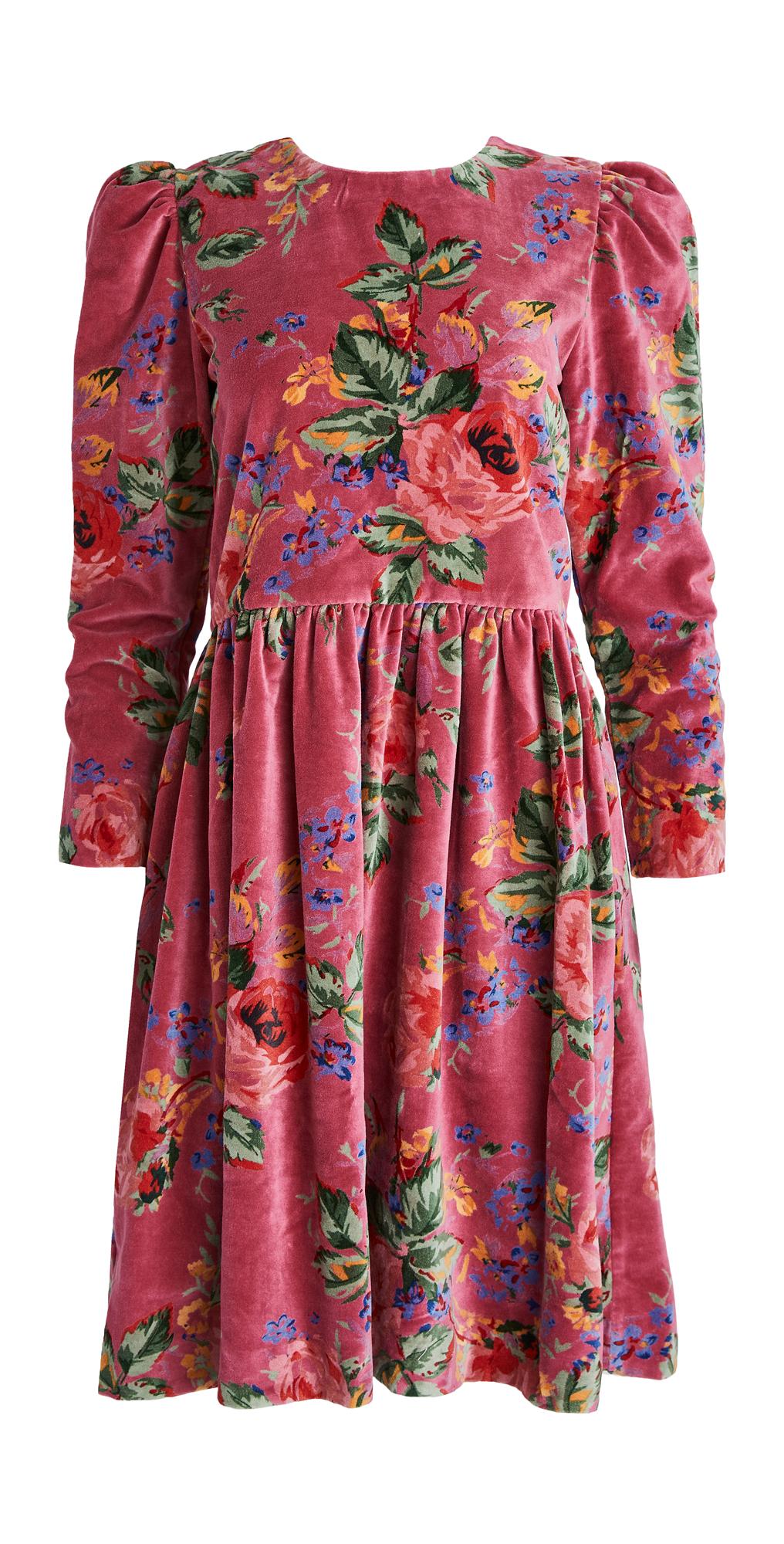 Alix of Bohemia Ruby Velvet Dress