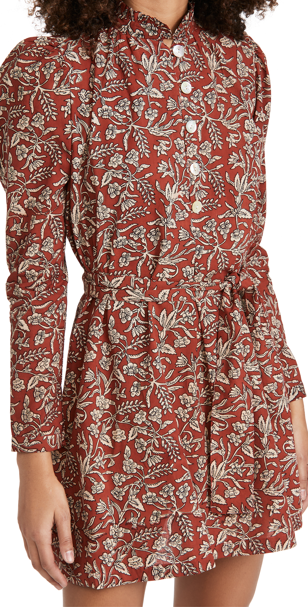 Alix of Bohemia Mini Laura Red Currant Block Print Dress