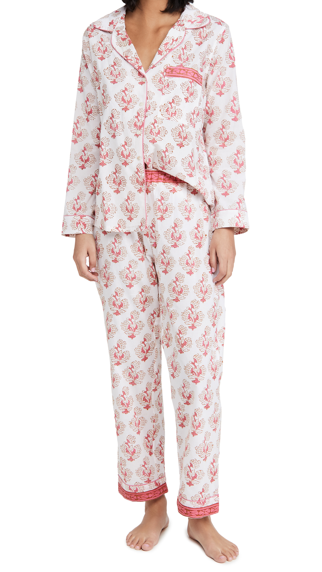 Alix of Bohemia Etoile Coralie Block Print Pajamas