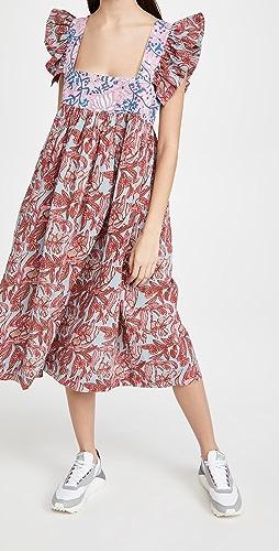 Alix of Bohemia - Emmaline Patchwork Ruffle Dress