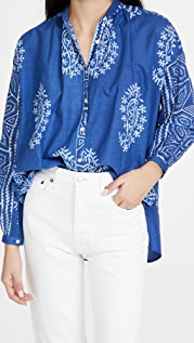 Alix of Bohemia Kiki Cerulian Paisley Shirt