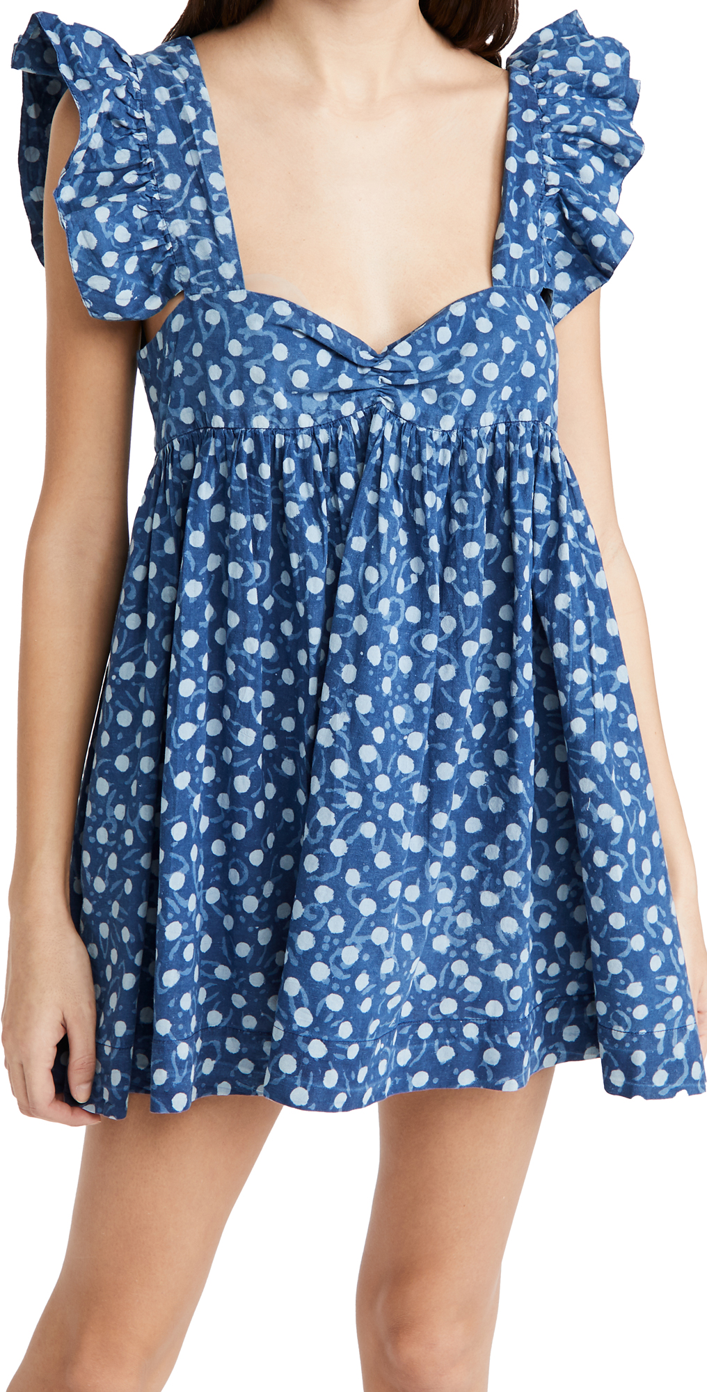 Alix of Bohemia Bluebell Block Print Ruffle Dress