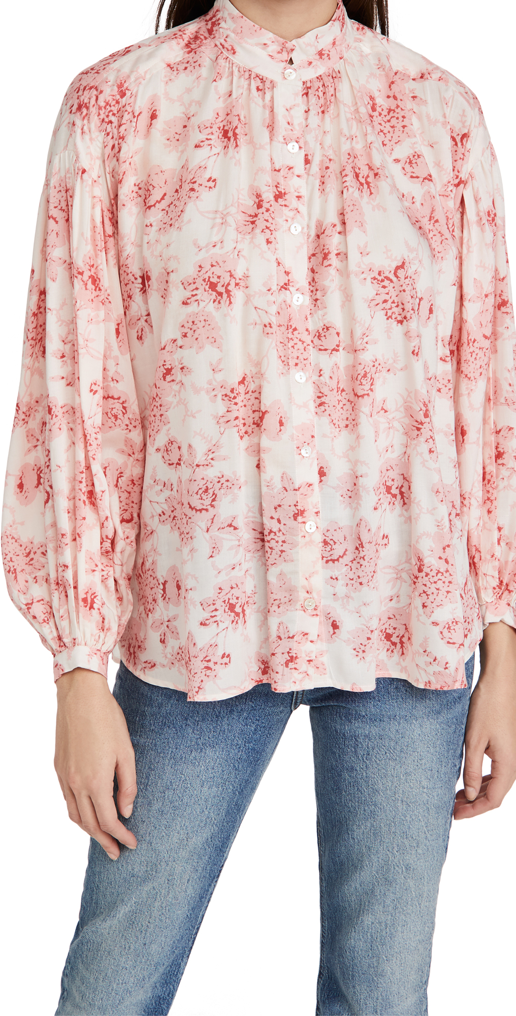 Alix of Bohemia Poet English Rose Print Shirt