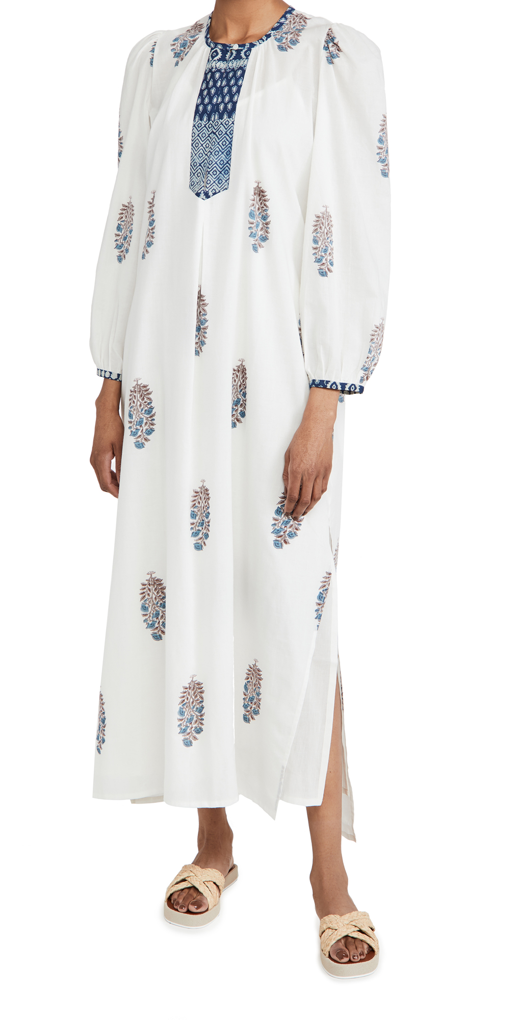 Alix of Bohemia Virginie Violet Print Caftan Dress