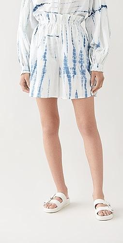 Alix of Bohemia - Painter's Shibori Blue Culottes