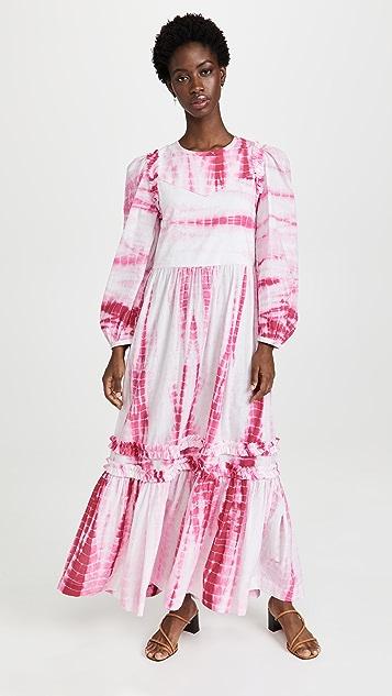 Alix of Bohemia Plume Pink Shibori Dress