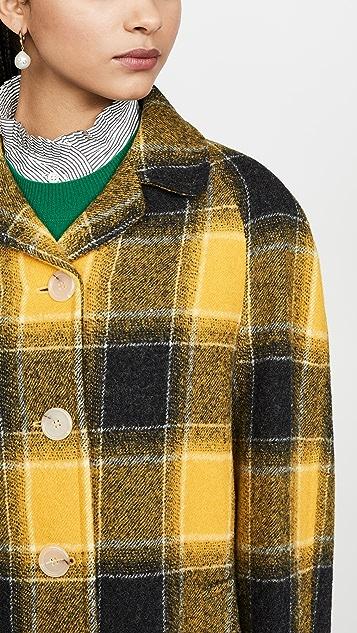 ALEXACHUNG Raglan Sleeve Coat