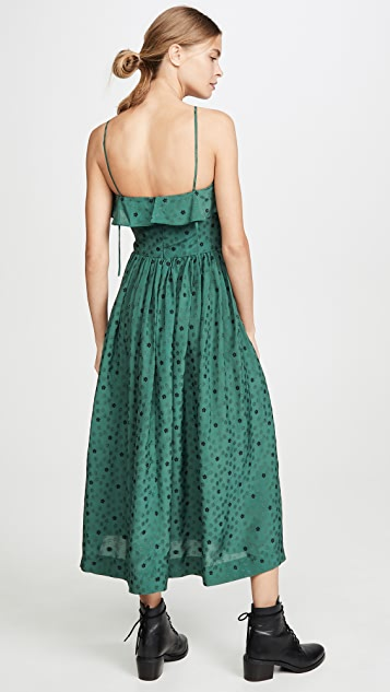 ALEXACHUNG Halterneck Dress