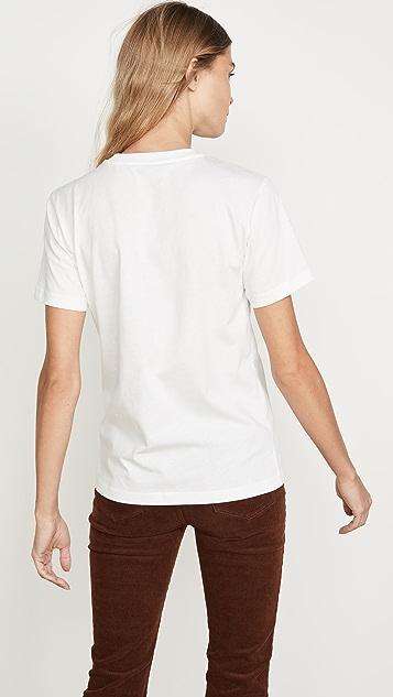 ALEXACHUNG 单面平针织 T 恤