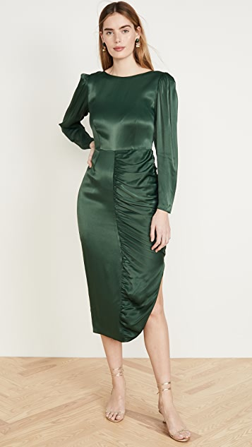 ALEXACHUNG Платье со сборками из крепового атласа