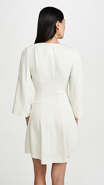 ALEXACHUNG 褶皱正面连衣裙