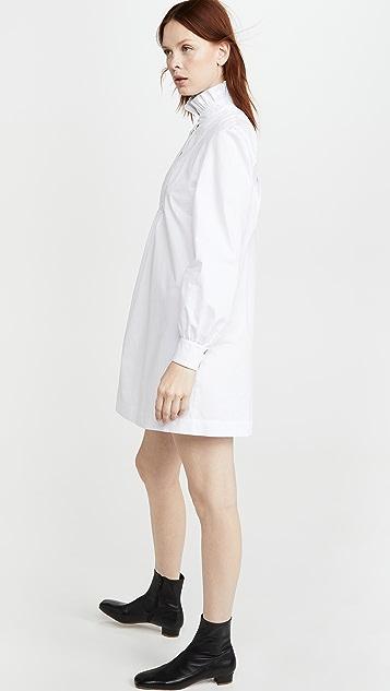 ALEXACHUNG 流苏人字纹衬衣连衣裙