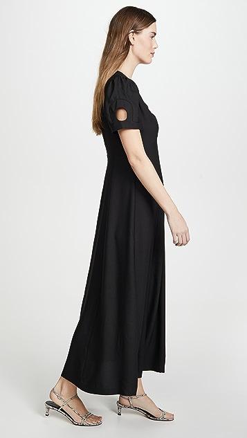 ALEXACHUNG Платье из вставок с зубчатой отделкой