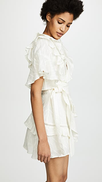 Acler Basque Ruffle Dress