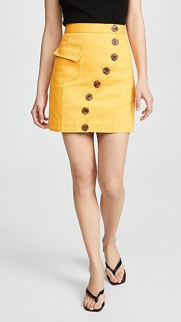 Acler Golding 牛仔布半身裙