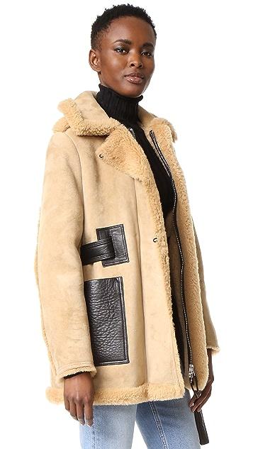 Acne Studios Fayette Suede Shearling Coat