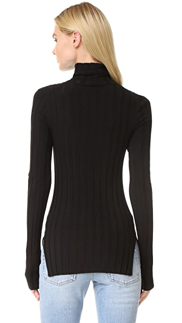 Acne Studios Corin Ribbed Merino Turtleneck Sweater