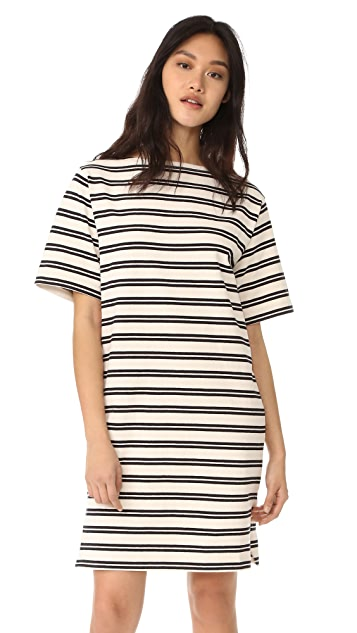 Acne Studios Dodora Stripes T-Shirt Dress