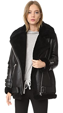 Velocite Shearling Moto Jacket