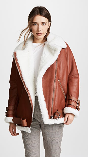 Shearling jacket acne sale