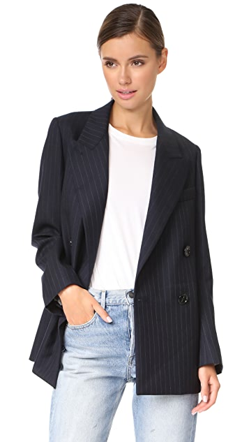 Acne Studios Jara Pinstripe Double Breasted Blazer