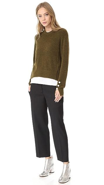 Acne Studios Trea Structured Wool Pants
