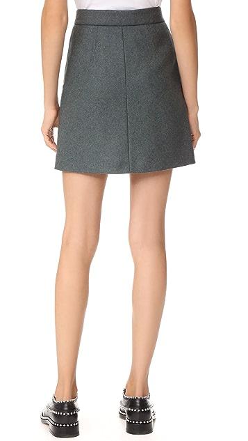 Acne Studios Suraya Flannel Skirt