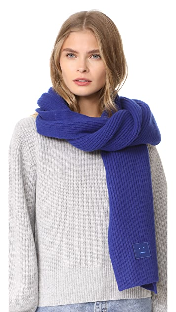 Acne Studios Bansy L Face Scarf - Royal Blue