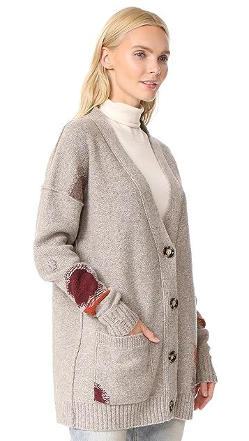 Acne Studios Line Wool Cardigan